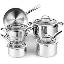 Cooks Standard 02492 Classic 9-piece Stainless Steel Cookwar