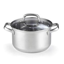 Cook N Home 02609 Lid 5-Quart Stainless Steel Casserole Stoc