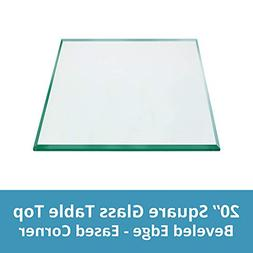 "TroySys - 1/2"" Thick Square Glass Table Top  