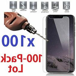 100x Wholesale Tempered Glass Screen Protector for iPhone X