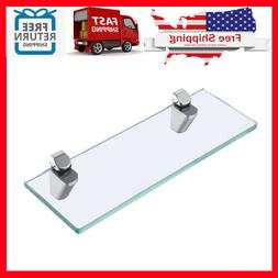 KES 14-Inch Bathroom Tempered Glass Shelf 8MM-Thick Wall Mou