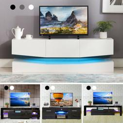 18 Types TV Stand Cabinet Console High Gloss+Tempered Glass