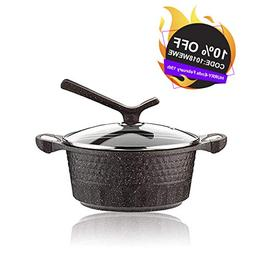KI 2.5qt Soup Pot Nonstick Dutch Oven Casserole with Tempere
