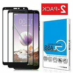 2-Pack Tempered Glass Full Coverage Screen Protector For LG