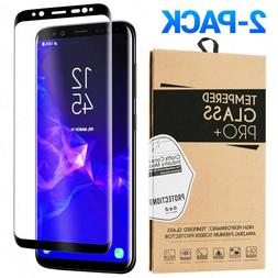 2-Pack Tempered Glass For Samsung Galaxy S8 S9 Plus Note 8 9