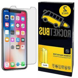 2-Pack RocketBus Tempered Glass Screen Protectors for iPhone