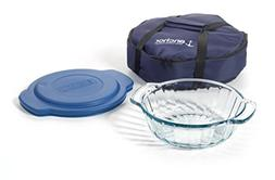 Anchor Hocking 3-Piece 2-Quart Sculpted Baking Dish with Sla