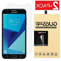 2x Tempered Glass Screen Protector For Samsung Galaxy J7 V/S