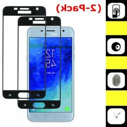2X Full Tempered Glass Screen Protector For Samsung Galaxy J