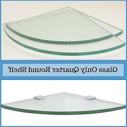 "3/8"" Tempered Quarter Round Corner Glass Shelf Flat Polish E"