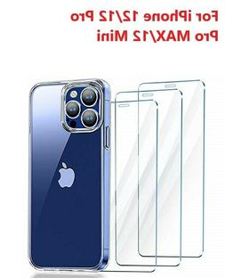 3 Pack For iPhone 12 Pro max mini iPhone 12 Pro Tempered Gla