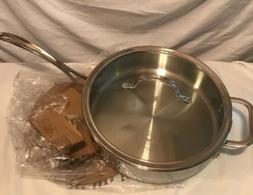Calphalon 3-qt. Tri-Ply Stainless Steel Saute Pan With Cover
