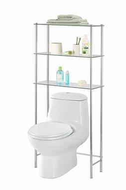 3 Tier Shelf Over The Toilet Space Saver Tempered Glass Bath