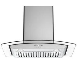 30'' Wall Mount Kitchen Range Hood Stainless Steel Tempered