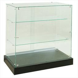 "36"" L Frameless Rectangular Tempered Glass Showcase NEW YORK"