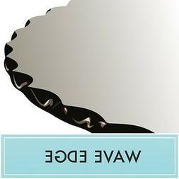 "36"" Round Clear Tempered Glass Table Top 1/2"" thick - Wave e"