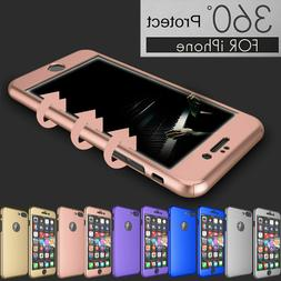 For iPhone 6 6S 7 360° Protection Acrylic Hard Case + Tempe