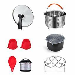 3qt Instant Pot Accessories 7PCS Steamer Basket Tempered Gla