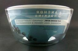4 Qt/L Anchor Hocking Tempered Glass Mixing Bowl Microwave,