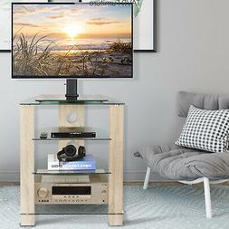 4-Tier Media TV Stand Audio Video Tower Rack HiFi Stereo Cab