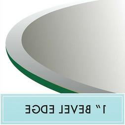 "40"" Round Tempered Glass Table Top 1/2"" thick - Bevel edge b"