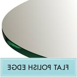 "42"" Inch Clear Round Tempered Glass Table Top 1/4"" thick - F"