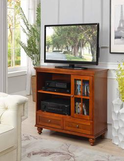 """42"""" Transitional Highboy TV Stand Home Media Entertainment S"""