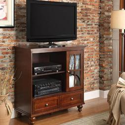 """42"""" Transitional Wood TV Stand 2-Drawer Storage Cabinet Home"""