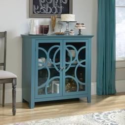 Sauder 420272 Shoal Creek Elise Display Cabinet Blue Sgs Non