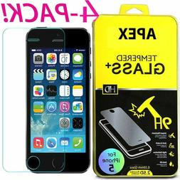 4Pcs Premium Real Screen Protector Tempered Glass Film For i