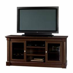 65 Inch Home Cherry TV Stand w/ Two Adjustable Shelves & Saf