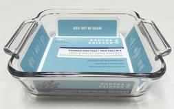 "Anchor Hocking 8"" Square Cake Dish - Clear Tempered Tough™"
