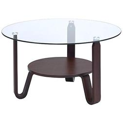 ACME Furniture 81105 Darby Coffee Table, Dark Walnut and Cle