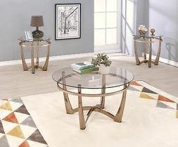 Acme Furniture 81610 Orlando II Coffee Table, Champagne/Clea