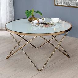ACME Furniture Acme 81825 Valora Coffee Table, Frosted Glass