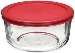 Anchor Hocking 91548L11 4 Cup Round Kitchen Storage With Red