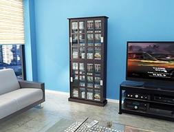 Atlantic 94835757 Windowpane 720 Media Cabinet in Espresso-