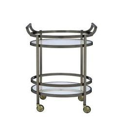 ACME Furniture 98190 Lakelyn Serving Cart, One Size, Clear G