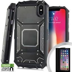 Apple iPhone X / XS 5.8 Black Jacket Metal Plate Magnetic Ca