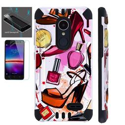 COMBAT GUARD For LG Phone Case Hybrid Cover +TEMPERED GLASS
