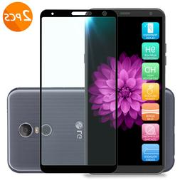For LG Stylo 4 /Plus Black Full Coverage Tempered Glass Scre
