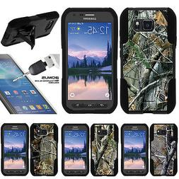 For Samsung Galaxy S6 Active G890 Stand Case + Tempered Glas