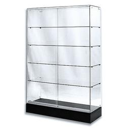 "Frameless Tempered Glass Tower Trophy Case 72"" H x 48"" W - N"