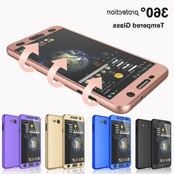 Shockproof 360° Case + Tempered Glass For Samsung Galaxy J3