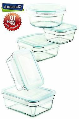 Snaplock Lid Tempered Glasslock Storage Containers 10pc set~