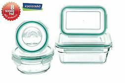 Snaplock Lid Tempered Glasslock Storage Containers 8pc set M