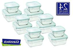 Snaplock Lid Tempered Glasslock Storage Square Containers 26