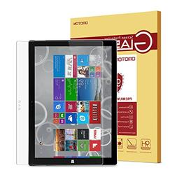 Surface Pro 3 Screen Protector, OMOTON Tempered Glass,     P