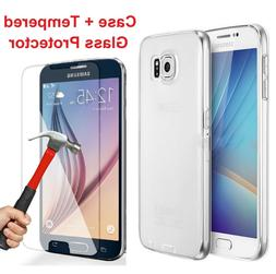 Tempered Glass Screen Protector + Case  for Samsung Galaxy S