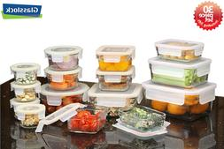 Tempered Glasslock Advanced Rim  Storage Containers 30pcs Se